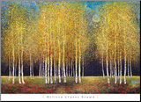 Golden Grove Mounted Print by Melissa Graves-Brown