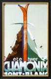 Verão, inverno, Chamonix, Mont-Blanc Poster por Henry Reb