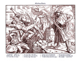 Totentanz 1848: Death Leads Revolutionary Citizens Giclee Print by Alfred Rethel