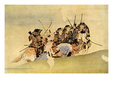 Japanese Samurai on Coastal Patrol Reproduction proc&#233;d&#233; gicl&#233;e