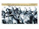 The Gunpowder Plotters Conspiring Giclee Print by Crispijn de Passe