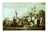 Captain Cook's Landing on the Friendly Islands Giclee Print