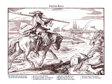 Totentanz 1848: Death Rides Through the Countryside Giclee Print by Alfred Rethel