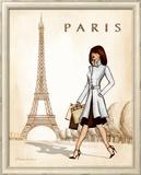 Paris Poster by Andrea Laliberte