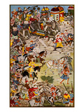 March of the Grand Mughal, Akbar the Great Giclee Print