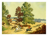 A Hunt Chasing Hounds over Clear Ground Giclee Print