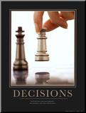 Decisiones Lámina montada en tabla