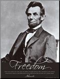 Freedom: Abraham Lincoln Reprodukce aplikovaná na dřevěnou desku