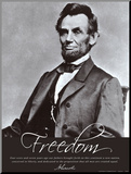 Freedom: Abraham Lincoln Mounted Print