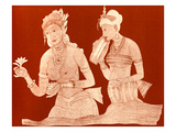 Indian Princess with a Servant Girl Giclee Print