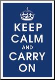 Keep Calm (navy) Aufgezogener Druck