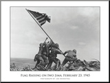 Flag Raising on Iwo Jima, c.1945 Mounted Print by Joe Rosenthal