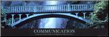 Komunikace Reprodukce aplikovaná na dřevěnou desku