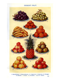 Mrs Beeton's Cookery Book - Dessert Fruit Giclee Print