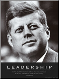 Leadership: JFK Mounted Print