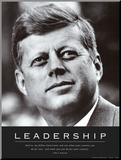 Liderazgo: JFK Lámina montada en tabla