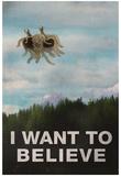 Flying Spaghetti Monster - I Want To Believe Kunstdruck