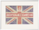 Keep Calm and Carry On (Union Jack) Poster by Ben James