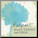 Respekt Druck aufgezogen auf Holzplatte von Linda Woods