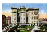 San Francisco: Hotel St. Francis and Union Square Giclee Print