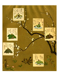 Six Poets of the Nara and Heian Periods, Japan Giclee Print