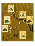 Six Poets of the Nara and Heian Periods, Japan Giclee Print