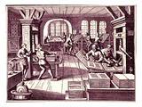 Inside a Printer's Shop Reproduction procédé giclée