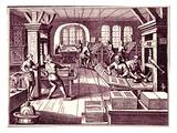 Inside a Printer's Shop Giclee Print