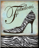 Zebra Shoe Mounted Print by Todd Williams