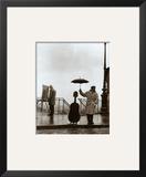 Musician in the Rain Print by Robert Doisneau