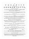 'A Treatise on the German Flute' Giclee Print