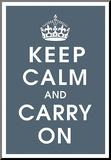 Keep Calm (charcoal) Reprodukce aplikovaná na dřevěnou desku