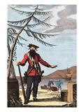 Captain Edward Teach, (Blackbeard), Engraving Giclee Print