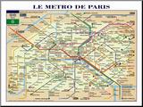 De metro van Parijs Kunstdruk geperst op hout
