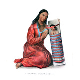 Chippeway (Ojibwe) Woman and Child Giclee Print by James Otto Lewis