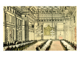 Dr Syntax at Freemasons Hall Giclee Print by Thomas Rowlandson