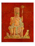 Dionysus Seated on a Throne Giclee Print