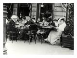 Vienna Café 1900 People Giclee Print