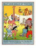 Billy and Dolly at the Fair Giclee Print by Walter Crane