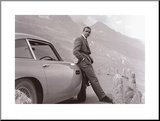 James Bond met Aston Martin Kunst op hout