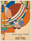Frank Lloyd Wright Designs Block Puzzle Jigsaw Puzzle
