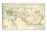 Map Showing the Empire of Alexander the Great Giclee Print