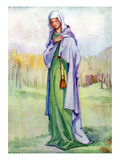 Woman's Costume in Reign of Henry III Giclee Print by Dion Clayton Calthrop