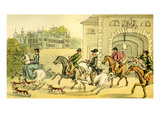 'A Noble Hunting Party' Giclee Print by Thomas Rowlandson
