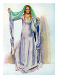 Woman&#39;s Costume in Reign of Stephen (1135 -1154) Giclee Print by Dion Clayton Calthrop