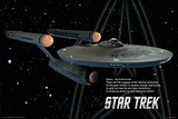 Star Trek - Enterprise Ship - Space the Final Frontier Prints