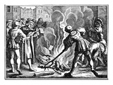 Martin Luther Burning a Papal Bull Giclee Print