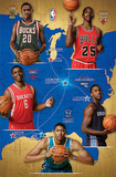 NBA Rookies 2012-13 - Lamb, Teague, Kidd-Gilchrist, Davis, Jones Print