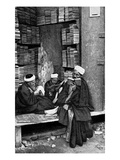 Egyptian Students in Front of a Bookshop in Cairo Giclee Print