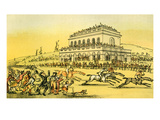 Dr Syntax Loses His Money at the Race-Track at York Giclee Print by Thomas Rowlandson